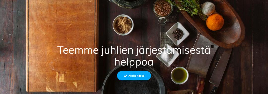 TilaaCatering.fi verkkokaupasta juhlatilat, pitopalvelu ja ohjelma