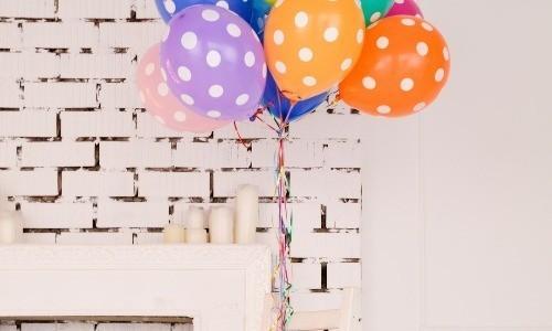 Heliumpalloja juhlien somisteeksi