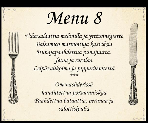 Buffet-menu 8 (häät ja muut juhlat)